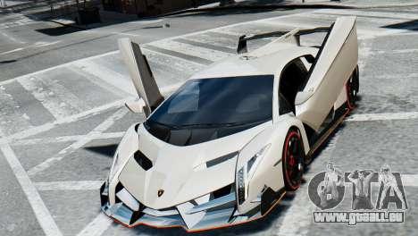 Lamborghini Veneno 2013 pour GTA 4 est une vue de l'intérieur