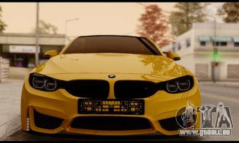 BMW M4 für GTA San Andreas zurück linke Ansicht