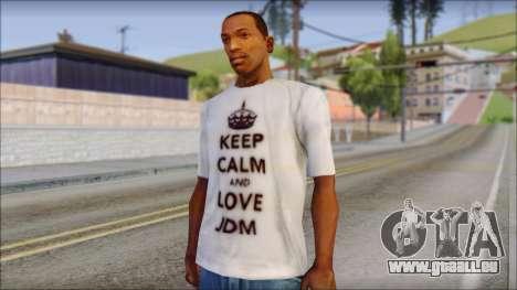JDM Keep Calm T-Shirt pour GTA San Andreas
