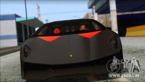 Lamborghini Sesto Elemento Concept 2010 pour GTA San Andreas laissé vue