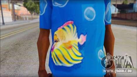 Fish T-Shirt pour GTA San Andreas troisième écran