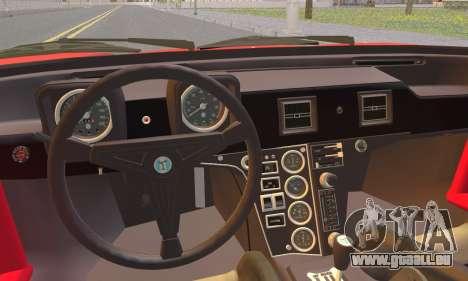 De Tomaso Pantera für GTA San Andreas zurück linke Ansicht