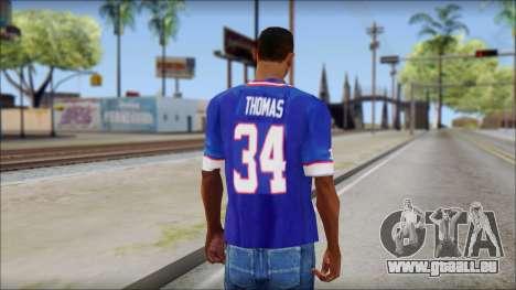 NY Buffalo Bills Blue für GTA San Andreas zweiten Screenshot