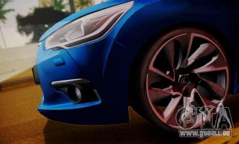 Citroen DS4 2012 pour GTA San Andreas sur la vue arrière gauche
