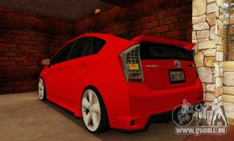 Toyota Prius Tunable pour GTA San Andreas laissé vue