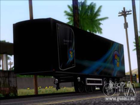 Прицеп Windows Vista Ultimate pour GTA San Andreas laissé vue