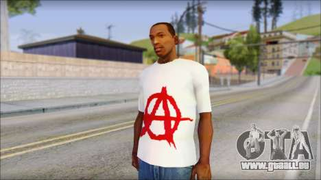 Anarchy T-Shirt v3 pour GTA San Andreas