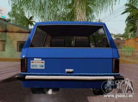 Huntley Coupe für GTA San Andreas rechten Ansicht