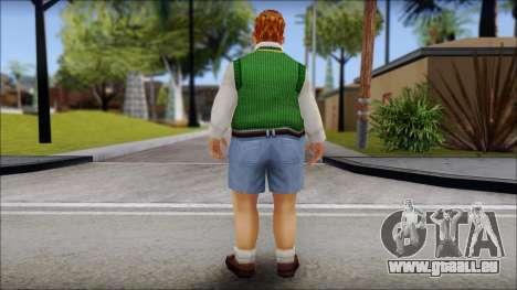 Algernon from Bully Scholarship Edition pour GTA San Andreas deuxième écran