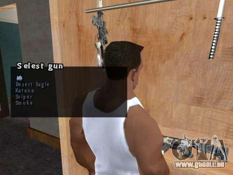 L'étui d'arme pour GTA San Andreas deuxième écran