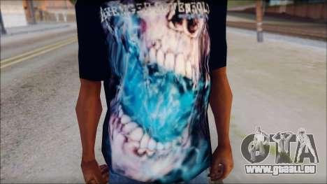 Avenged Sevenfold Nightmare Fan T-Shirt für GTA San Andreas dritten Screenshot