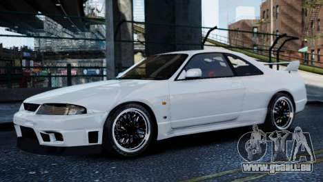 Nissan Skyline R33 1995 pour GTA 4 Vue arrière de la gauche