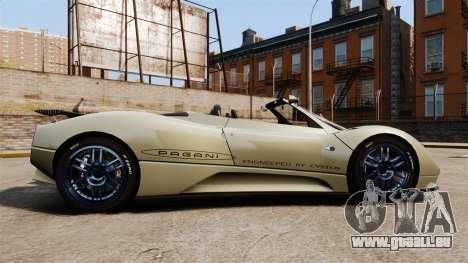 Pagani Zonda C12S Roadster 2001 v1.1 PJ1 pour GTA 4 est une gauche