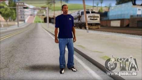 Blue Izod Lacoste Polo Shirt pour GTA San Andreas troisième écran