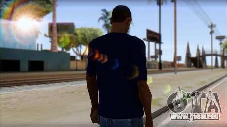Blue Izod Lacoste Polo Shirt pour GTA San Andreas deuxième écran