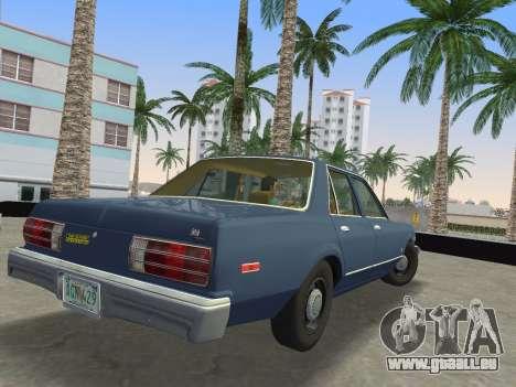 Dodge Aspen 1979 für GTA Vice City zurück linke Ansicht