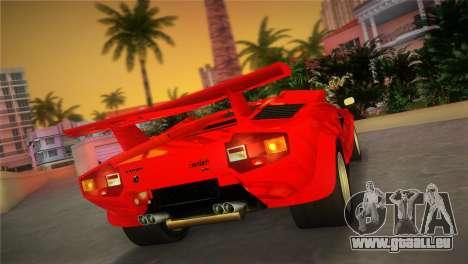 Lamborghini Countach LP5000 QV TT Custom pour une vue GTA Vice City de la gauche