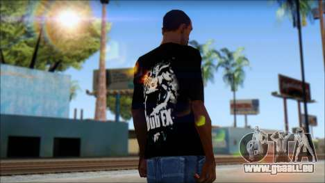 Dub Fx Fan T-Shirt v1 für GTA San Andreas zweiten Screenshot