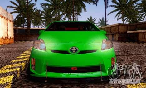 Toyota Prius Tunable pour GTA San Andreas sur la vue arrière gauche