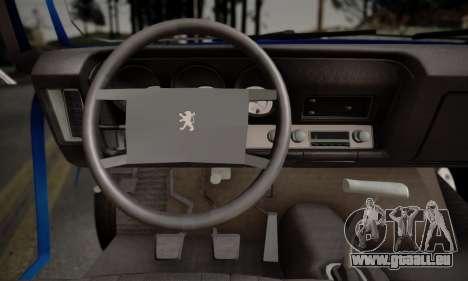 Peugeot 504 pour GTA San Andreas vue de droite