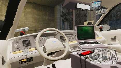 Ford Crown Victoria Sheriff [ELS] Unmarked für GTA 4 Rückansicht