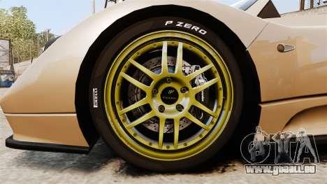 Pagani Zonda C12S Roadster 2001 v1.1 für GTA 4 Rückansicht