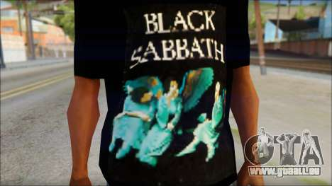 Black Sabbath T-Shirt v1 für GTA San Andreas dritten Screenshot