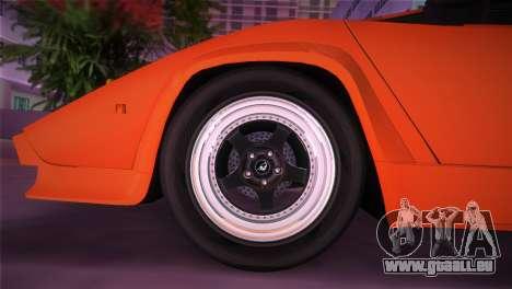 Lamborghini Countach LP5000 QV TT Custom pour une vue GTA Vice City de la droite