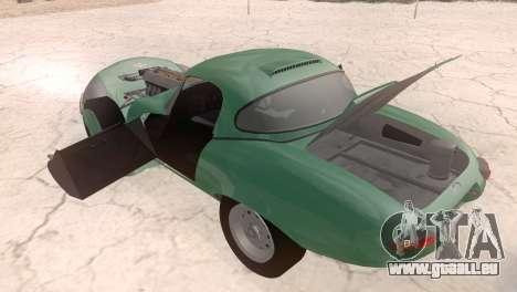 Jaguar E-Type für GTA San Andreas Rückansicht