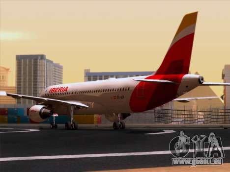 Airbus A320-214 Iberia für GTA San Andreas rechten Ansicht