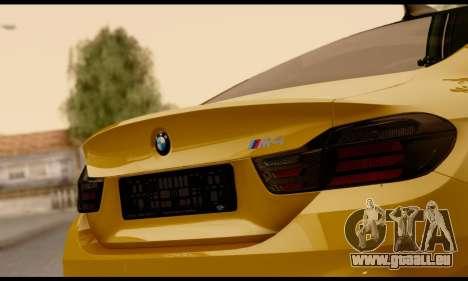 BMW M4 pour GTA San Andreas vue intérieure