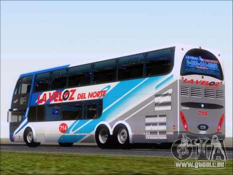 Metalsur Starbus DP 1 6x2 - La Veloz del Norte pour GTA San Andreas sur la vue arrière gauche