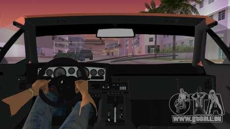 Lamborghini Countach LP5000 QV TT Custom pour GTA Vice City vue arrière