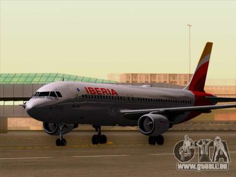 Airbus A320-214 Iberia pour GTA San Andreas laissé vue