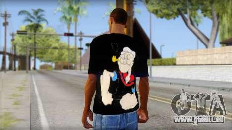 Popeye T-Shirt für GTA San Andreas zweiten Screenshot