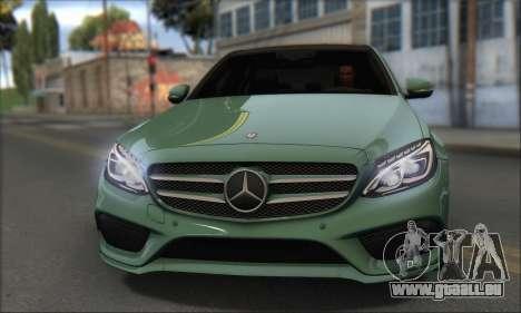 Mercedes-Benz C250 V1.0 2014 für GTA San Andreas zurück linke Ansicht