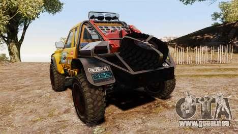 Nissan Patrol Buggy für GTA 4 hinten links Ansicht