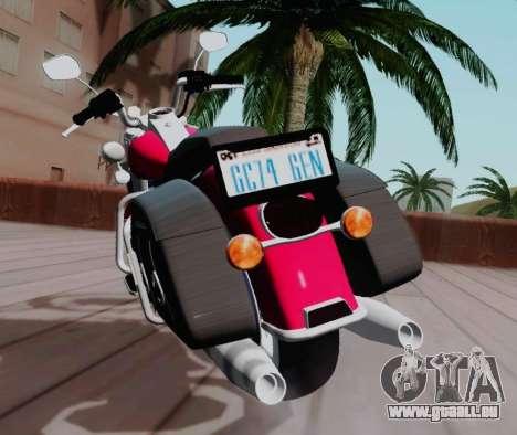 Harley-Davidson Road King Classic 2011 pour GTA San Andreas vue arrière