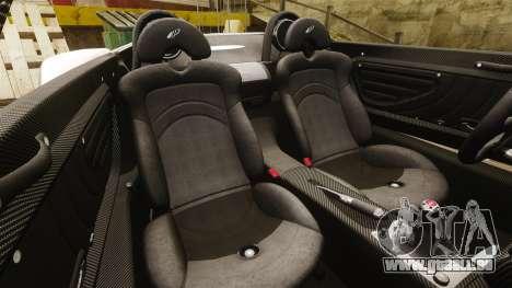 Pagani Zonda C12S Roadster 2001 v1.1 für GTA 4 Seitenansicht