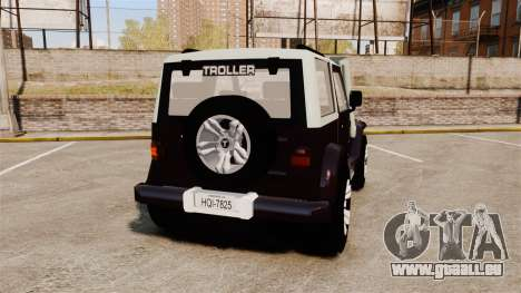 Troller T4 pour GTA 4 Vue arrière de la gauche
