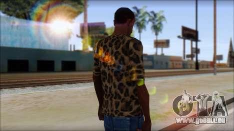 Tiger Skin T-Shirt Mod pour GTA San Andreas deuxième écran