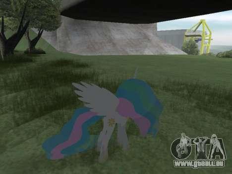 Princess Celestia für GTA San Andreas achten Screenshot