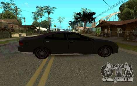 HSV VT GTS pour GTA San Andreas sur la vue arrière gauche