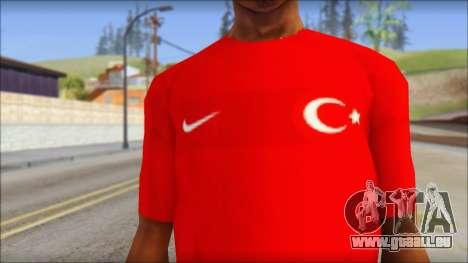 Turkish Football Uniform v4 pour GTA San Andreas troisième écran