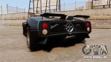 Pagani Zonda C12S Roadster 2001 v1.1 PJ3 pour GTA 4 Vue arrière de la gauche