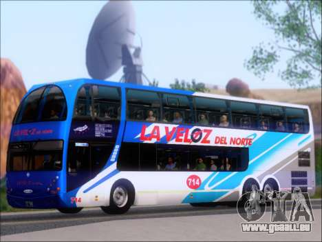 Metalsur Starbus DP 1 6x2 - La Veloz del Norte pour GTA San Andreas vue arrière