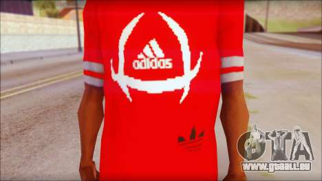 T-Shirt Adidas Red für GTA San Andreas dritten Screenshot