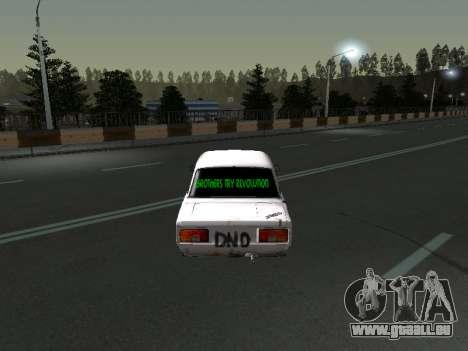 VAZ 2107 Clochard pour GTA San Andreas vue de droite