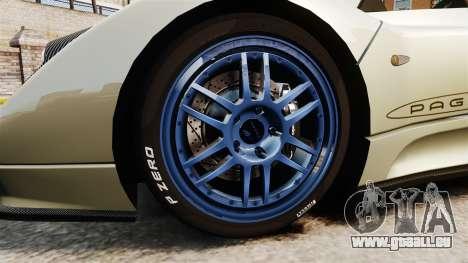 Pagani Zonda C12S Roadster 2001 v1.1 PJ1 pour GTA 4 Vue arrière