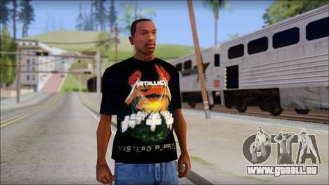 Metallica Master Of Puppets T-Shirt pour GTA San Andreas
